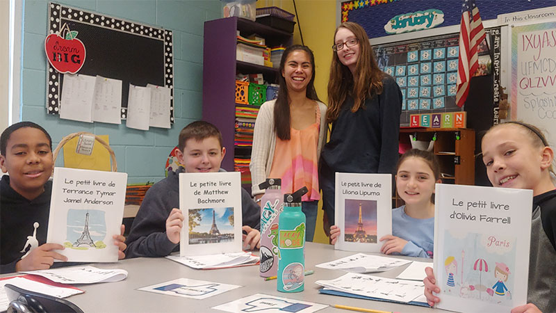 High Schoolers Say 'Bonjour' to Fifth Graders