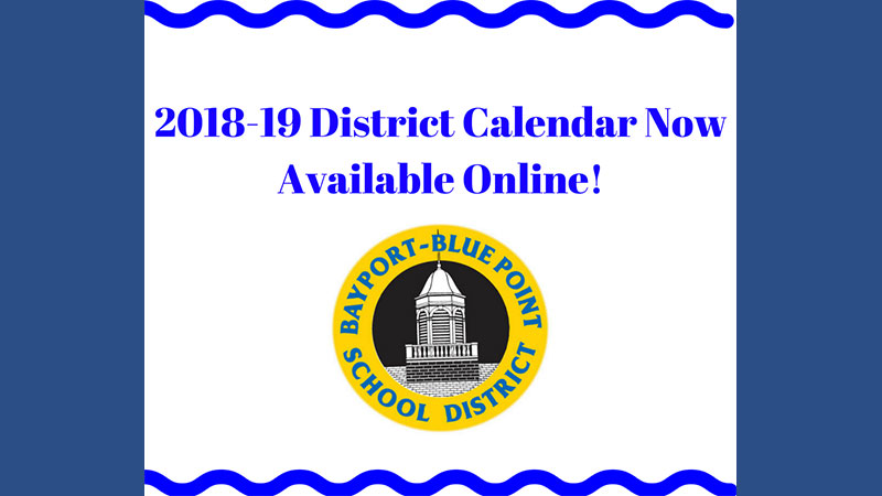 2018-19 Calendar Now Available