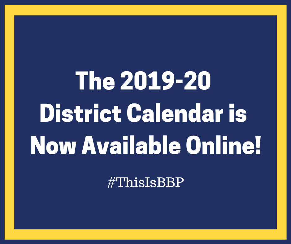 The 2019-20 District Calendar is Now Available!