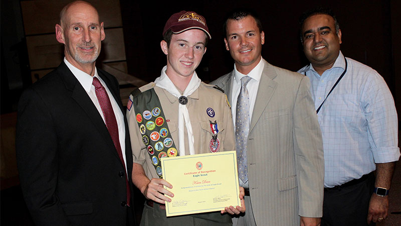 Eagle Scout honored by Board of Education
