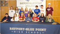 Bayport-Blue Point HS students further athletic careers  thumbnail142914